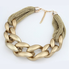 3 colors available big chunky necklaces for women CCB link chains net cloth statement necklace fashion jewelry party accessories(China (Mainland))