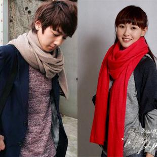 YBB Factory wholesale Korean New Long Thick Cashmere Solid Color Warm Imitation cashmere Scarf Autumn Winter 220x25CM C061