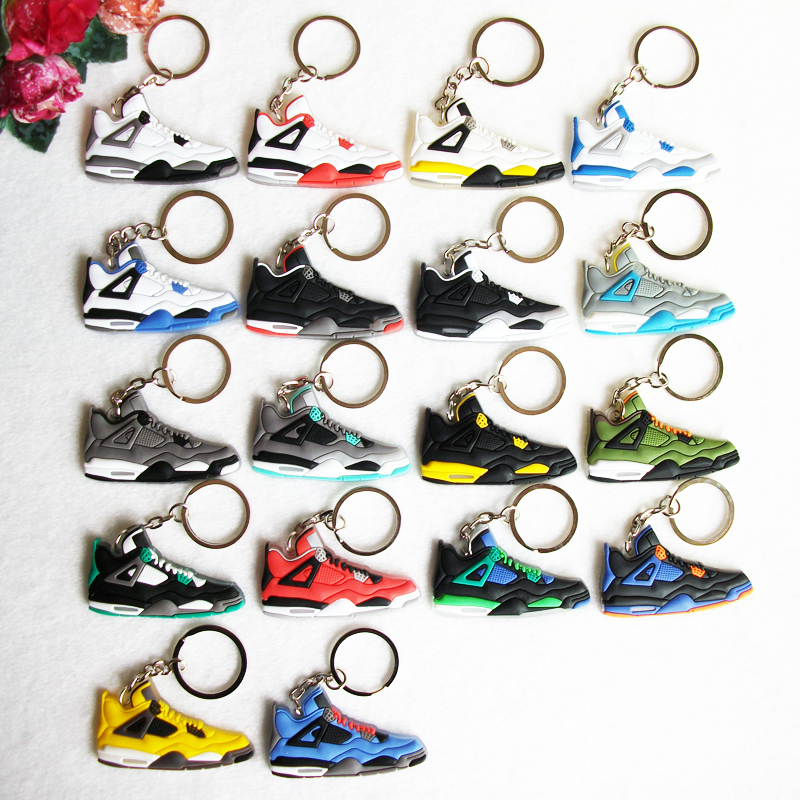 Jordan 4 keychain, sneaker key chain souvenirs key ring women key holder,chaveiro llaveros mujer porte clef porta chaves anillos(China (Mainland))