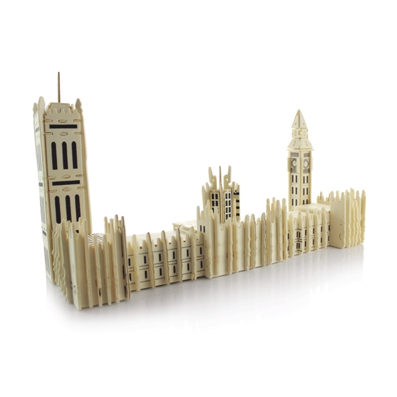 Wooden Puzzles Kids 3D Jigsaw Toys Children Early Education Planning Learning Model Homen Decor Big Ben London Bridge(China (Mainland))