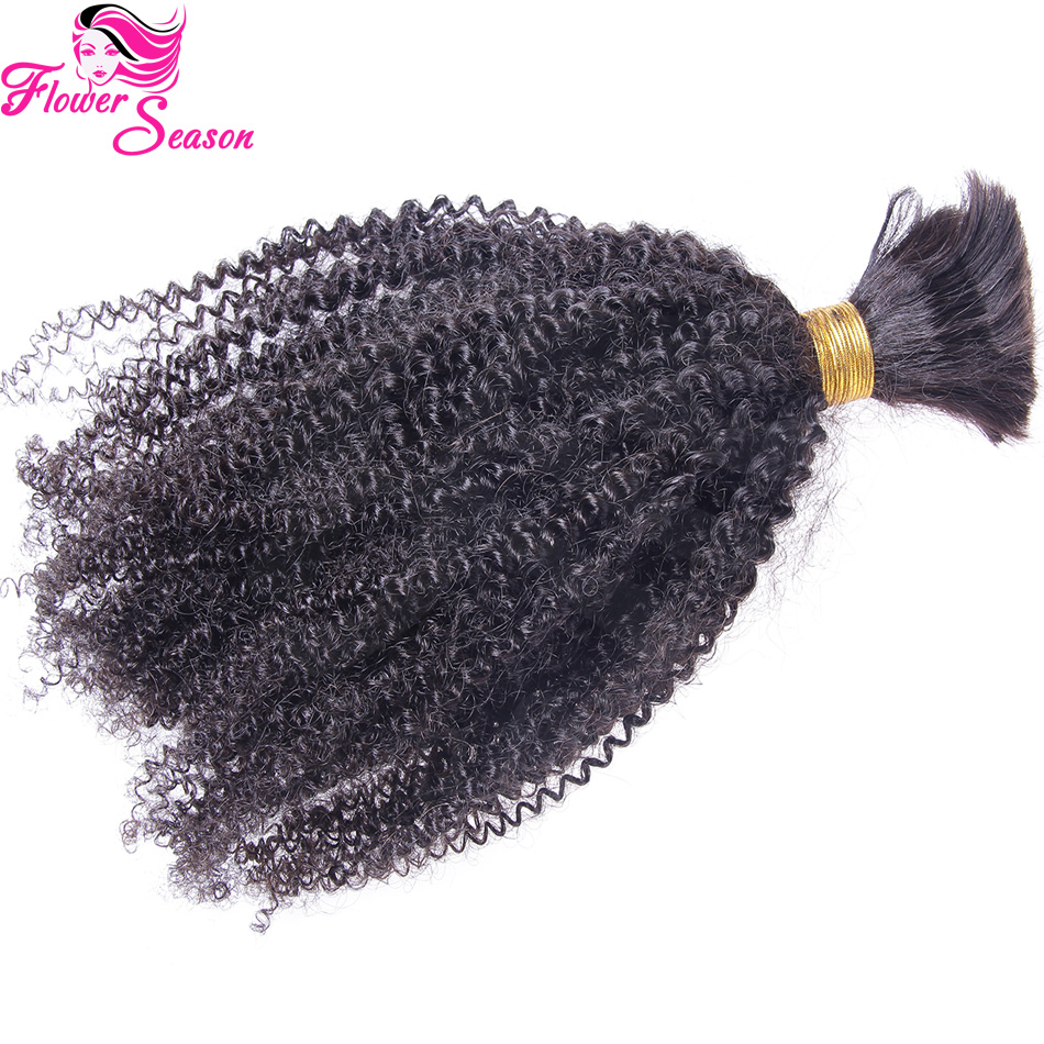 High Quality Brazilian Virgin Human Hair For Raiding Bulk No Attachment Afro Kinky Bulk Hair On Sale<br><br>Aliexpress