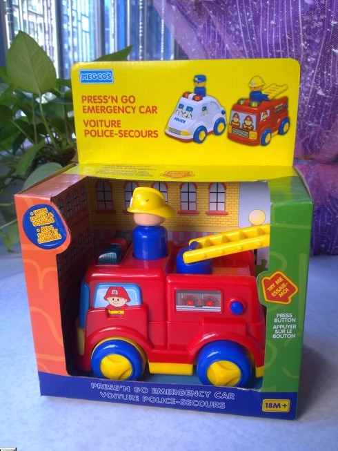 Free shipping Acoustooptical megcos music toy fire truck WARRIOR car mini(China (Mainland))