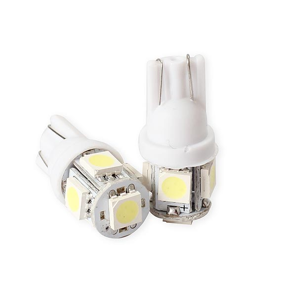20PCS T10 5050 5SMD LED White Light Car Side Wedge Tail Light Lamp Bright High Quality