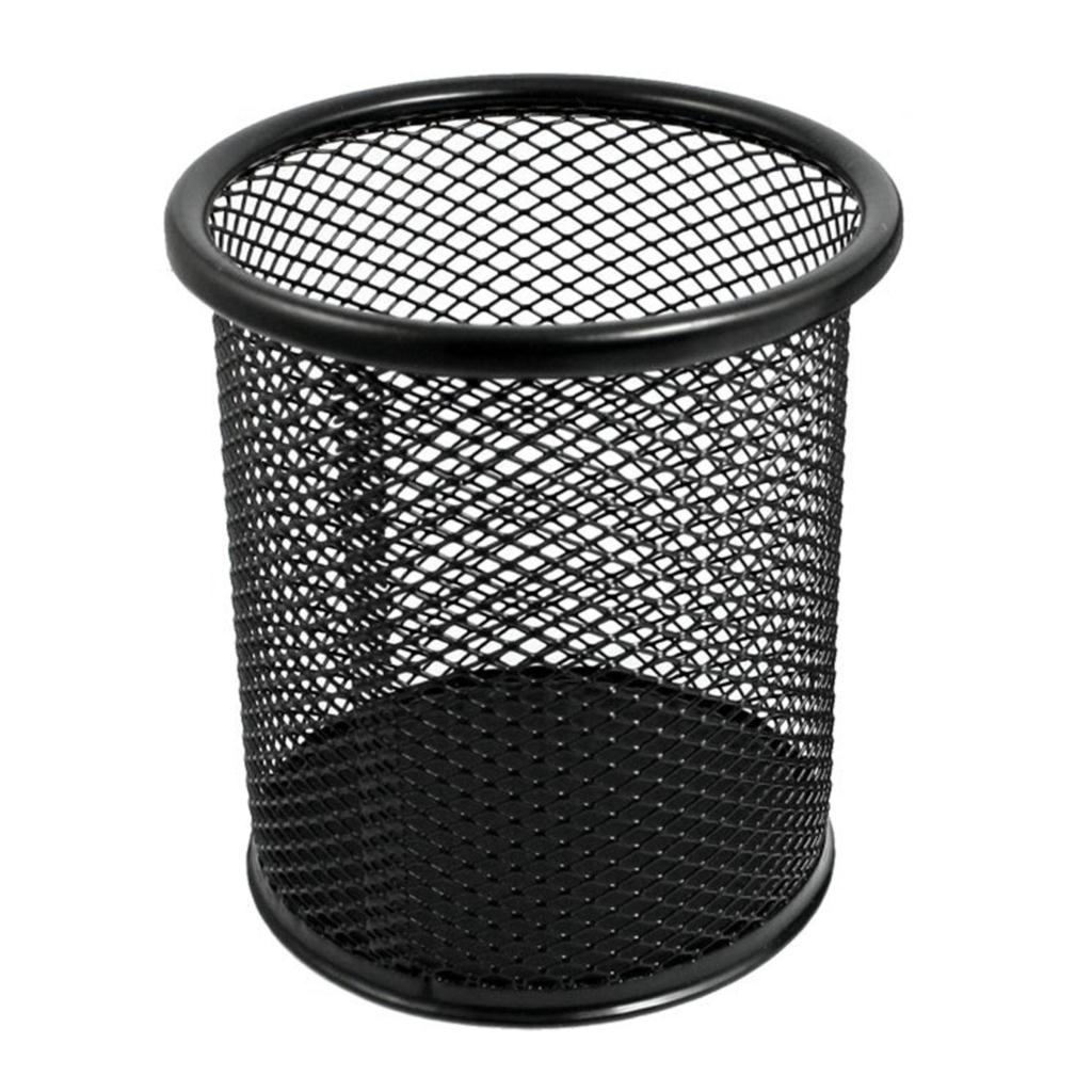 FS Wholesale 2 Pcs Mesh Rectangle Cylinder Stationery Holder Box Container Black<br><br>Aliexpress