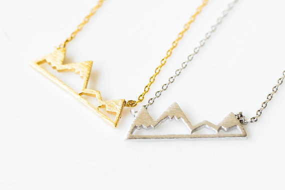 Autumn and Winter Gifts for Friends Dainty Snowy Mountain Top Necklaces for Women Snowcap Mountain Jewelry Necklace N181<br><br>Aliexpress