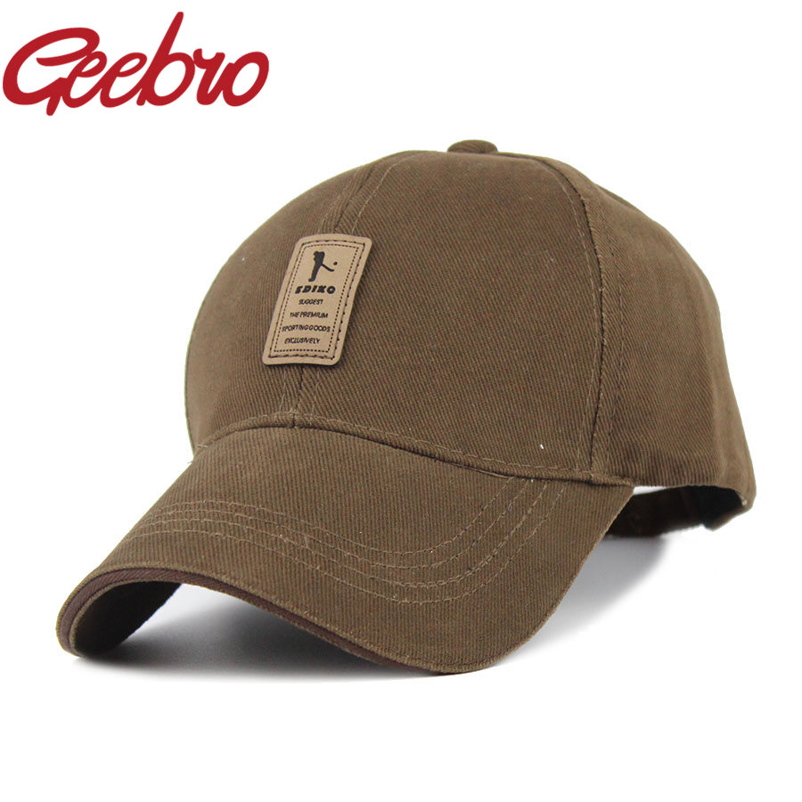 2016 Geebro Brand Outdoor Casual Baseball Cap Sports Solid Snapback Caps Cotton Summer Golf Running Hat for Men Women JS023-1(China (Mainland))