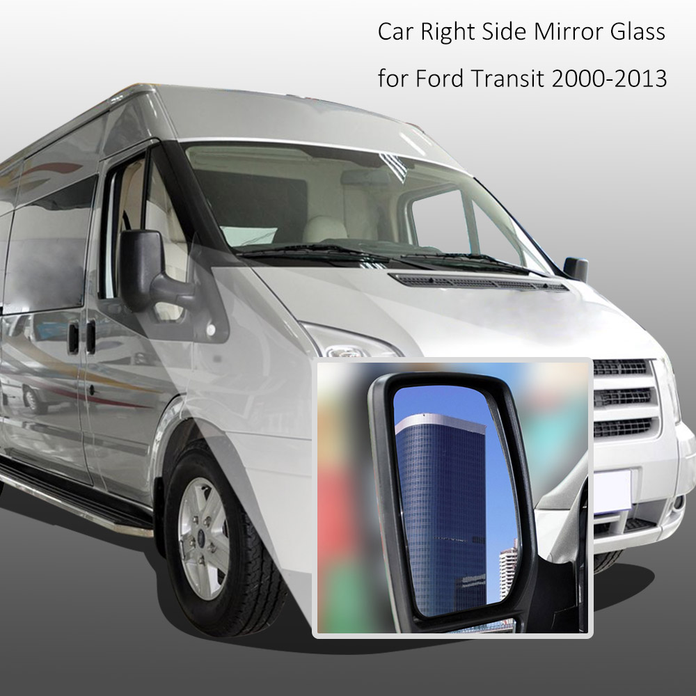 Wide Angle Wing Car Style Door Mirror Glass Right Side Mirror for Ford Transit 2000-2013 for Cars(China (Mainland))
