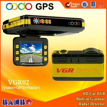 Hot!! New Arrival initiative factory hd car camera recorder with radar, G-sensor