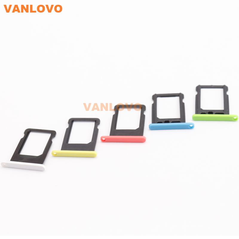 20x For iPhone 5C Nano SIM Card Tray Slot Holder Blue / Green / White / Pink / Yellow(China (Mainland))