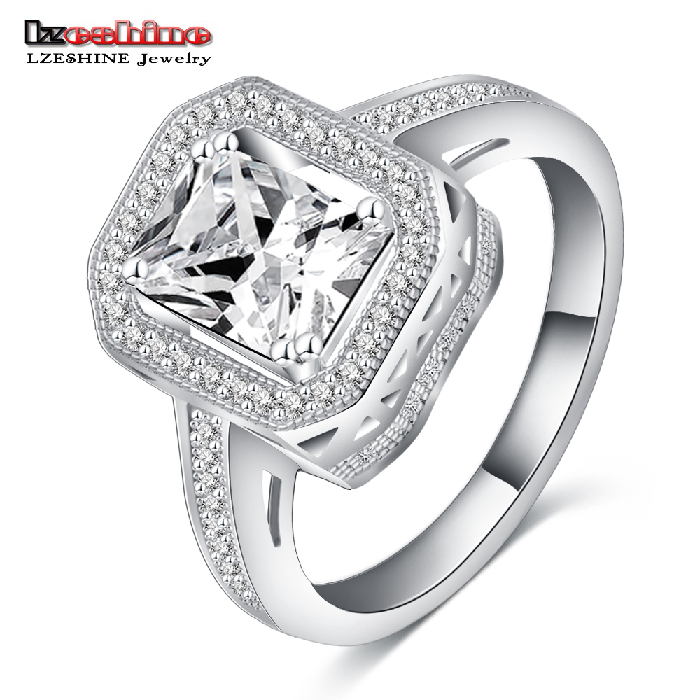 LZESHINE Hot New Big Men's Knuckle Rings Platinum Plated Micro Inlay AAA Zircon Engagement Rings CRI0153-B(China (Mainland))