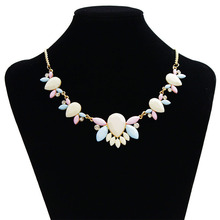 2015 New Fashion Brand Designer Chain Choker Vintage Rhinestone Necklace Bib Statement Necklaces & Pendants Women Jewelry(China (Mainland))