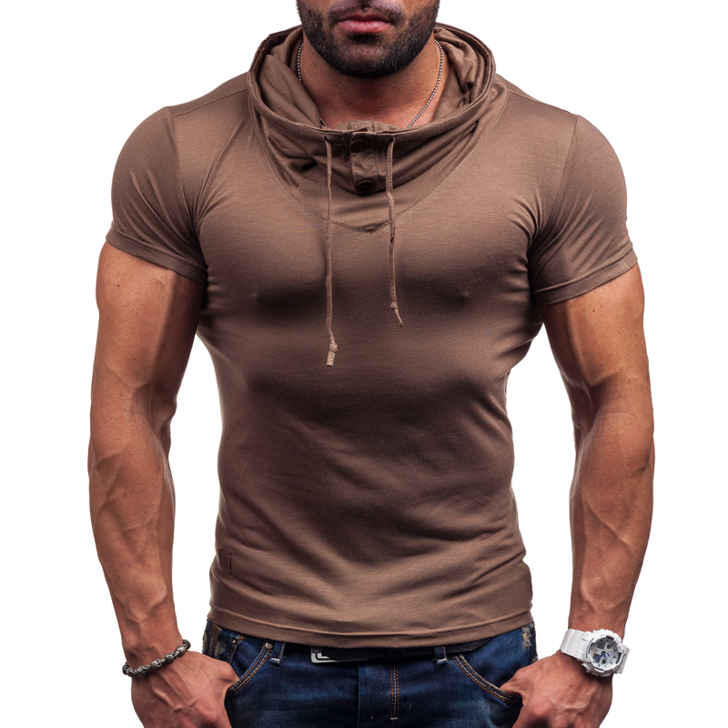 Camisetas hombre 2016 Clothing Brand Solid Hip-Hop T-Shirt Men'S Casual Cotton Short-Sleeved T-Shirt Compression Homme(China (Mainland))