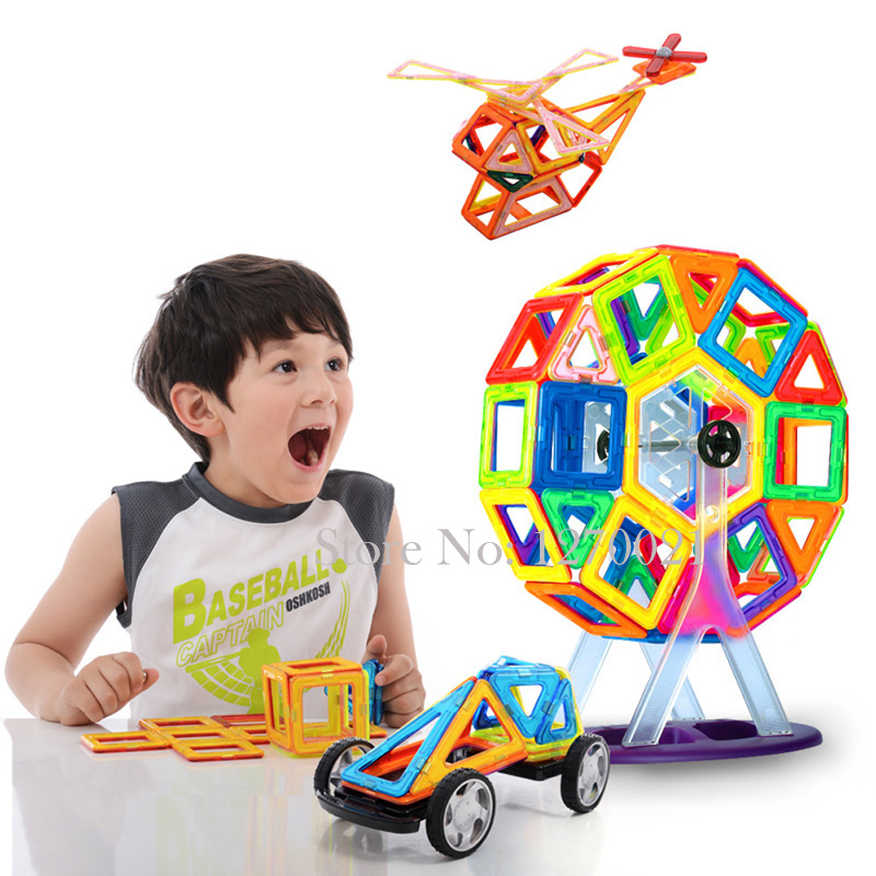 50PCS/lot Magnetic Blocks Toy Educational Magnetic Building Block Bricks DIY Magnet Toys Ferris wheel Set For Kids <br><br>Aliexpress