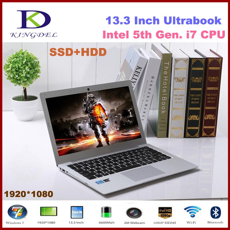 """Intel i7 5th Gen. CPU Ultrabook, 13.3"""" Laptop Computer, 8GB RAM, 128GB SSD+1TB HDD, 1920*1080, HDMI, 8 Cell Battery, Windows 10(Hong Kong)"""
