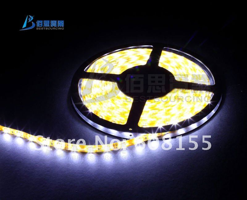 /best pick series/ LED holiday lighting 3528 SMD Flexible 60leds/meter waterproof White led light strips FREE SHIPPING(China (Mainland))