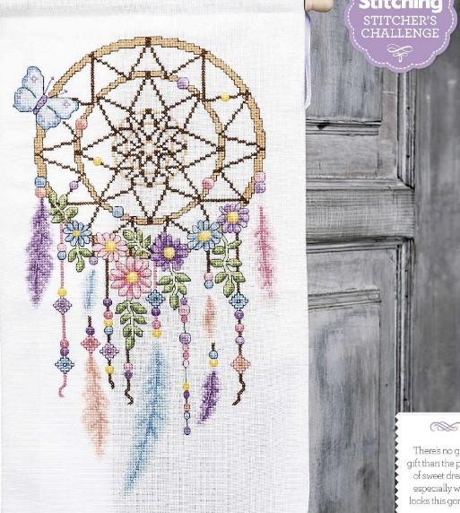 QT2571 Indian dream catcher feather magazine cross stitch kit DMC Threads sewing craft Handmade DIY craft embroidery needlework(China (Mainland))