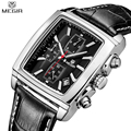 MEGIR Chronograph Multifunction Watch Men s Leather Luxury Top Brand Military Quartz Waterproof Watches Relogio Masculino