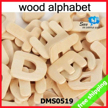 FREE SHIPPING 832pcs 8packs Wooden Alphabet Letters Kids Learning DIY Hand Painted Children Draw Early Educational Gift 0519(China (Mainland))