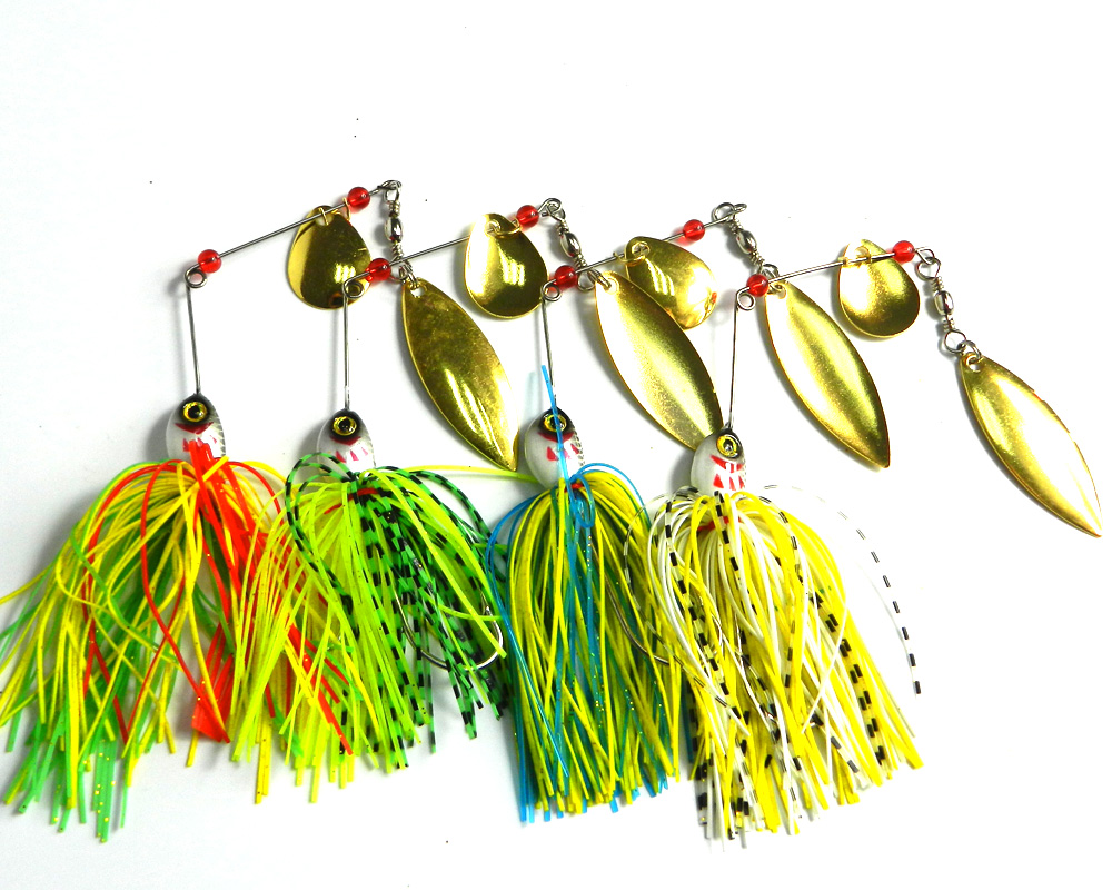20.5G Spinners hard baits fishing spinner lure spinner buzz bait,fishing bait,spoon rubber jig 40pcs(China (Mainland))