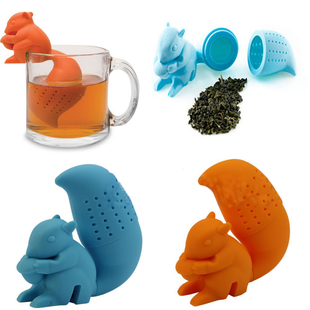 Гаджет  Limited Real American 3 Cartoon Teapot 1pc Squirrel Shape Tea Infuser Loose Leaf Strainer Bag Mug Filter Friends Applied None Дом и Сад