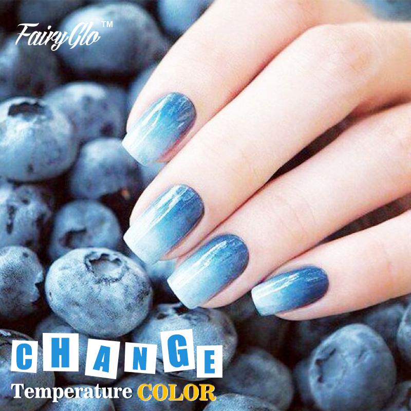 FairyGlo 8ml Mood Nail Polish Soak-off Gel Polish 1pcs Thermal Color Change Gel Nail Polish 100 Color Manicure UV Gel Polish(China (Mainland))
