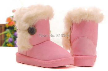 2015 Free Shipping Winter Boots Kids Boys Girls Snow Boots Hasp Cotton Boots Discount Price Baby Warm Shoes Size19-35