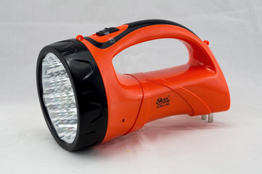 Free shipping Jager emergency lights / Jager YG-3504 Rechargeable LED searchlight(China (Mainland))