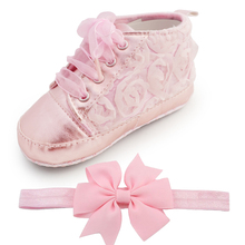 font b Baby b font Kids Toddler Sapato Infant Rose Flower Soft Sole Girl Shoes