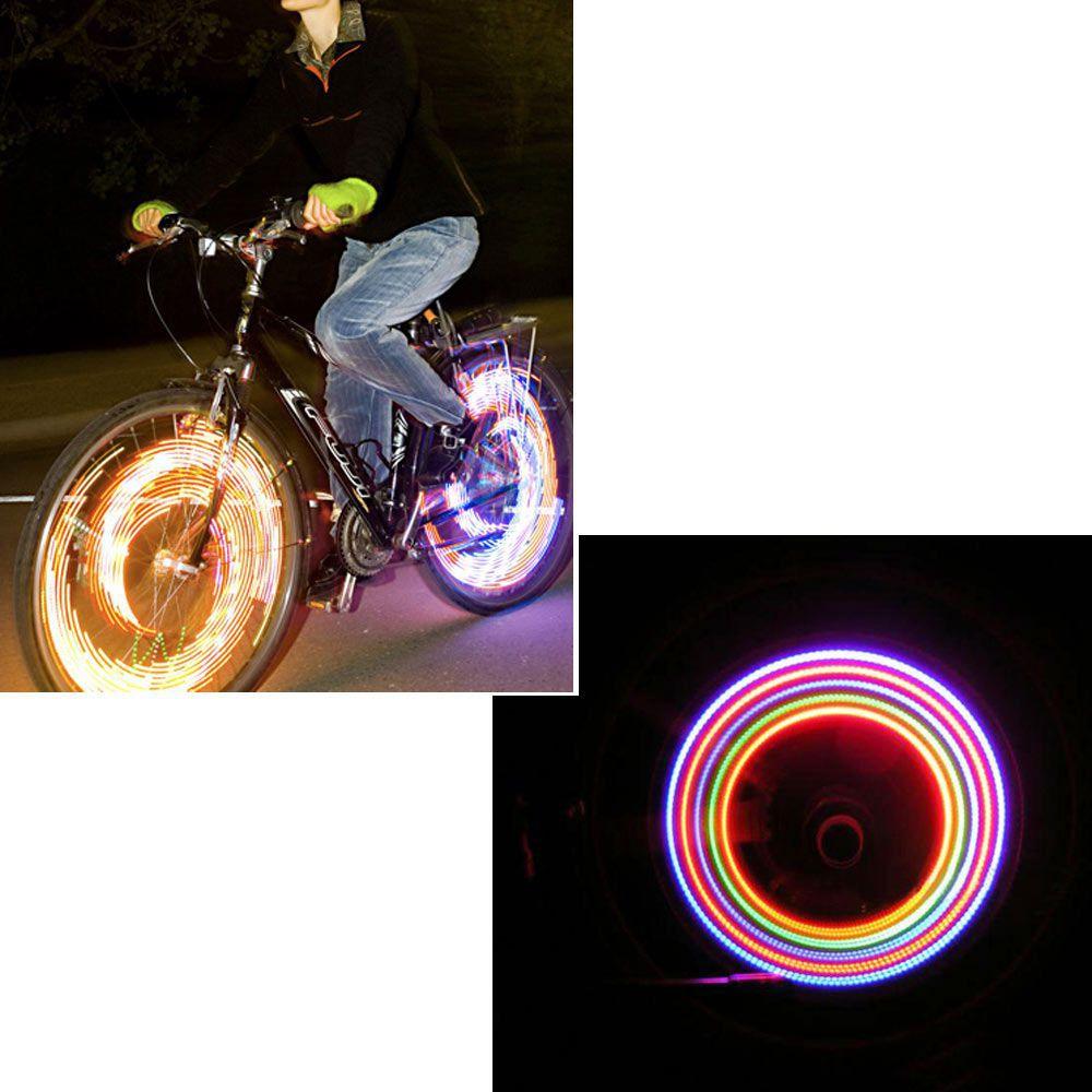 5 LED Lights Lamp 7 Flashing Model Bicycle Cycling Decor Wheel Tire Valve Cap Neon Lights(China (Mainland))