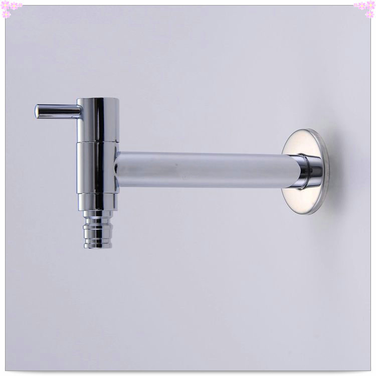 Wholesale And Retail Promotion NEW Chrome Brass Washing Machine Faucet Wall Mounted Pool Sink Tap also for garden use HJ-0202 ta(China (Mainland))