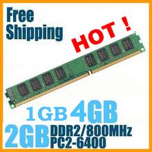 Горячая! Новое запечатаны DDR2 800 / PC2 6400 1 ГБ 2 ГБ 4 ГБ рабочего стола оперативной памяти совместимы с DDR 2 800 667 мГц / 533 мГц! Бесплатная доставка