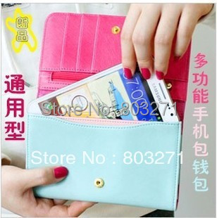 fashion 2015 summer women's wallet mobile phone bag for i phone 6 plus large phone pouch