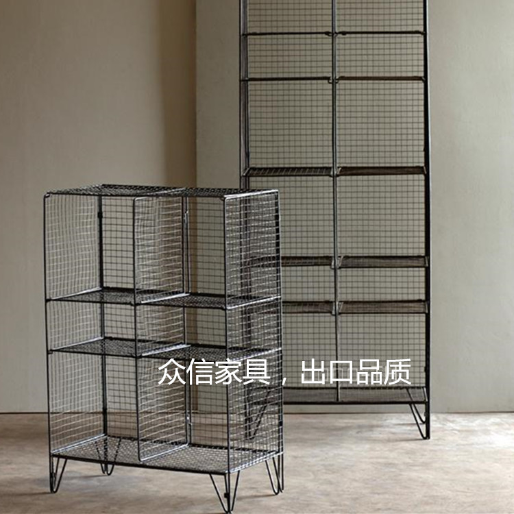 Factory wholesale retro do the old wrought iron racks multilayer floor-speed rail network storage rack storage shelves Creative<br><br>Aliexpress