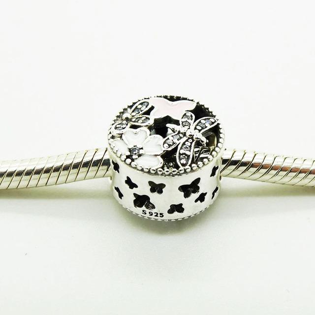 Серебряный бусины Springtim очарование подходит европейский романтические браслеты стерлинг серебра 925 2016 весна мода ювелирных изделий