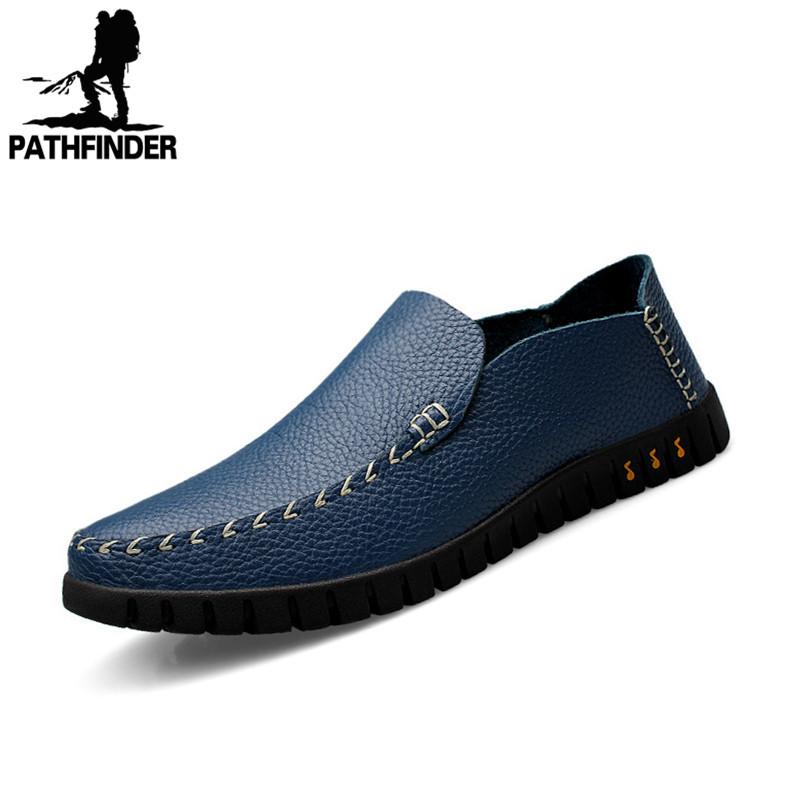Здесь можно купить   Arrival Casual Men Flats, Genuine Leather Men Loafers, High Quality Men Outdoor Driving Shoes Classic Style  Black   Обувь