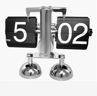Здесь можно купить  Free shipping Auto flip clock alarm clock electronic clock lounged - 10 mute  Дом и Сад