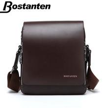 Bostanten Split Leather Flap Messenger Bag For Men Leisure Business Men Bag Classic Mens Shoulder Bag Crossbody Bags