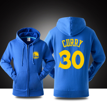 New Stephen Curry #30 logo zip-up hoodie Men and women Cotton jacket sweatshirt