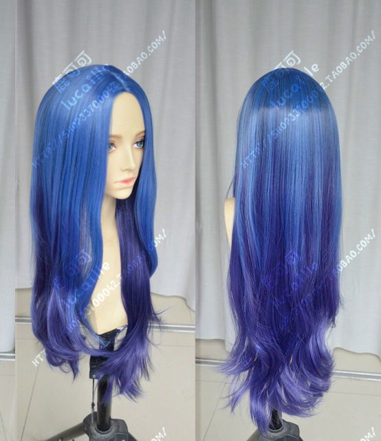 League of Legends LOL Irelia Long Blue Purple Game Cosplay Party Wig Hair  &gt;&gt;Party cosplays  heat resistant free shipping<br><br>Aliexpress