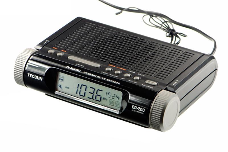 High Sensitivity Radio Receiver TECSUN CR-200 Digital Tuner FM Stereo / AM / TV Audio Radio(China (Mainland))