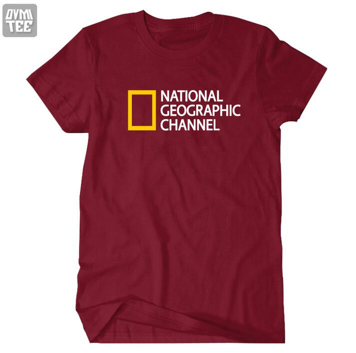 American NATIONAL GEOGRAPHIC DISCOVERY men women t shirt high quality cotton 100% brand clothing casual sports clothing(China (Mainland))