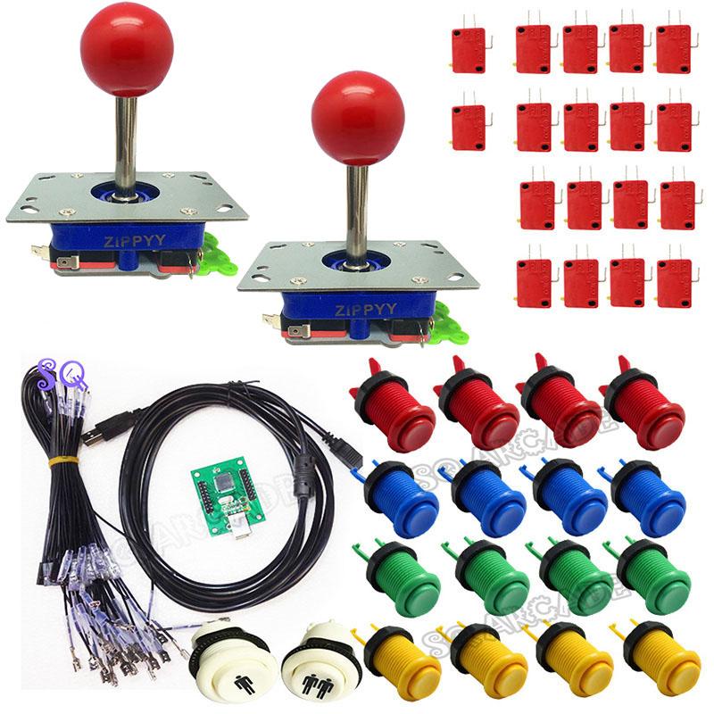 Arcade DIY KIT 2 players PC PS/3 2 IN 1 to 5 kinds joystck interface USB 2 player MAME Interface USB to Jamma joystick&button(China (Mainland))