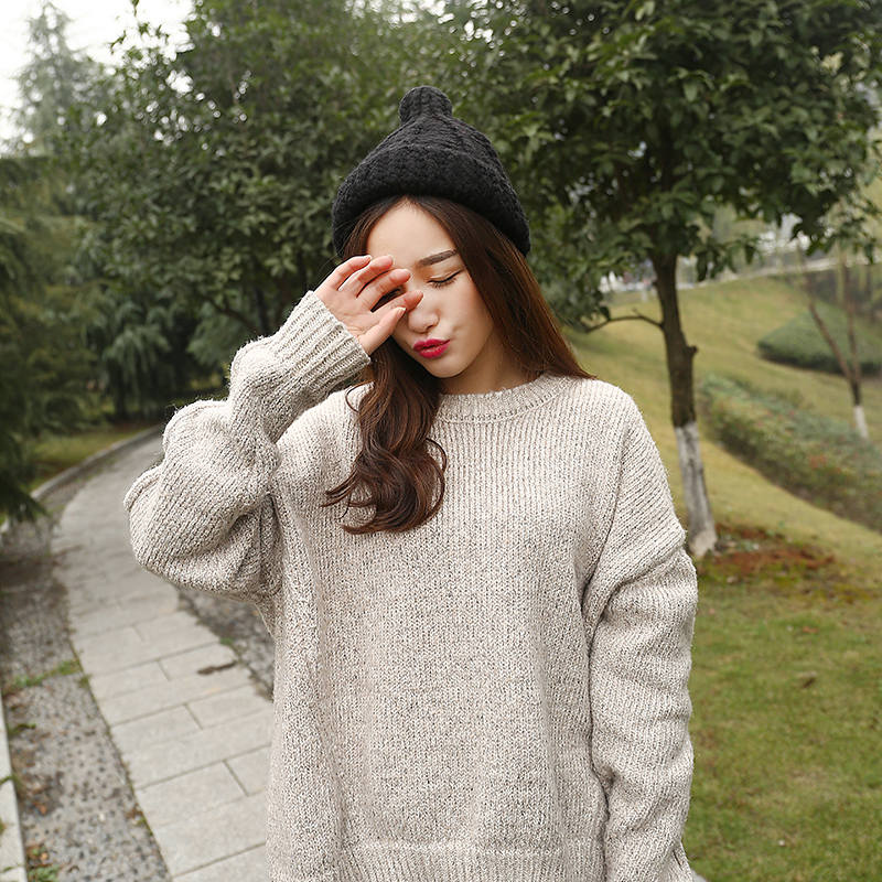 New Fashion Warm Knitted Hat Women Touca Pompom Beanies hat pomponom Wool cap Acrylic South Korean Version of The Hats BH-HY2242(China (Mainland))