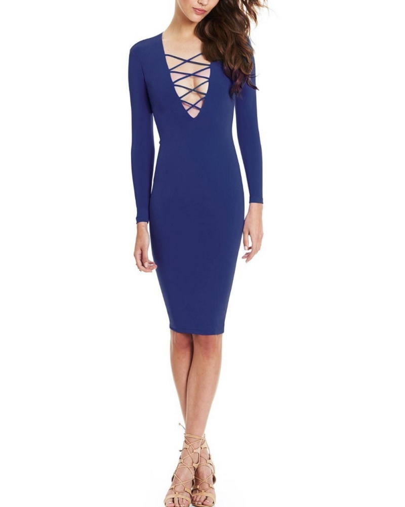 Aliexpress Com Buy 2015 Fall Sexy Club Dress Cross Deep V