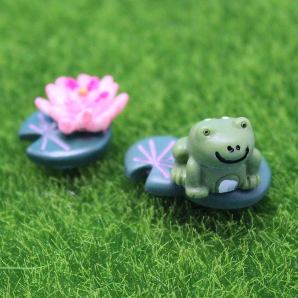 Micro landscape decoration accessories resin craft cartoon frog three-piece suit succulents potted DIY decoration novelty home(China (Mainland))
