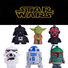 The full capacity cute D2d2 & YODA & Darth Vader usb 2.0 usb flash drive 8gb 16 gb 32 gb pen drive memory stick pendrive u disk