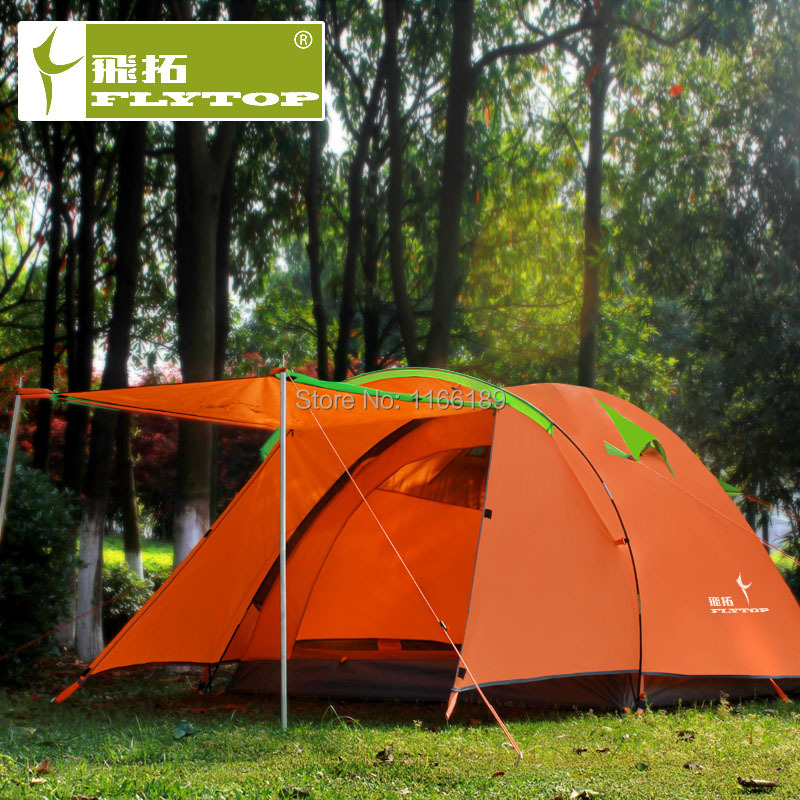 TOP Quality One Bedroom One Living Room Tent Flytop Double Layer 4 Person 4 S