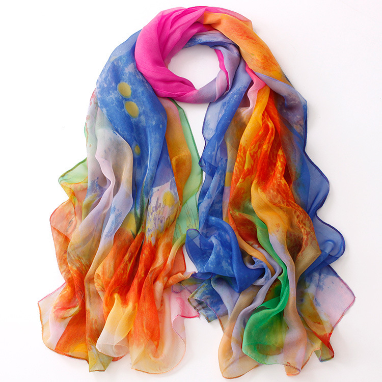 RL-261 New 2015 Summer Style Scarf For Women High Quality Chiffon Silk Shawls And Scarves Female Large Desigual Cachecol(China (Mainland))