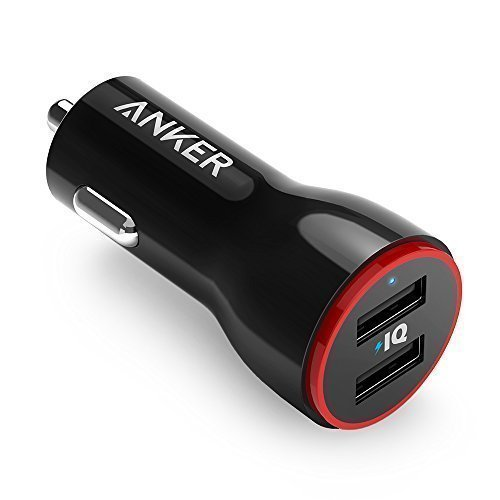 Anker 24W Dual USB Car Charger PowerDrive 2 for iPhone; Samsung Galaxy; LG G4 / G5; Google Nexus; iOS and Android Devices(China (Mainland))