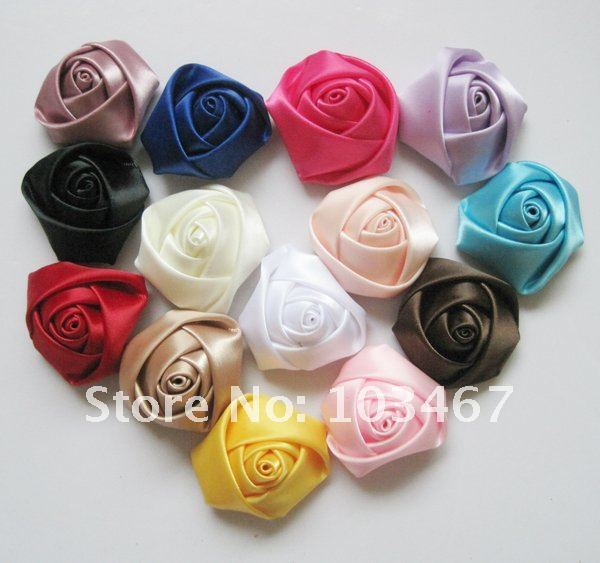 100pcs rose 14 colors can be choosen 4cm ribbon rosettes lowest price